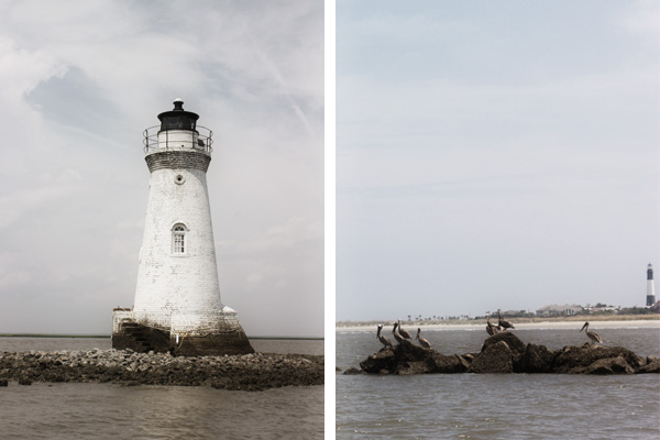 Cockspur Island Lighthouse (visible by boat) | Tybee Island Lighthouse